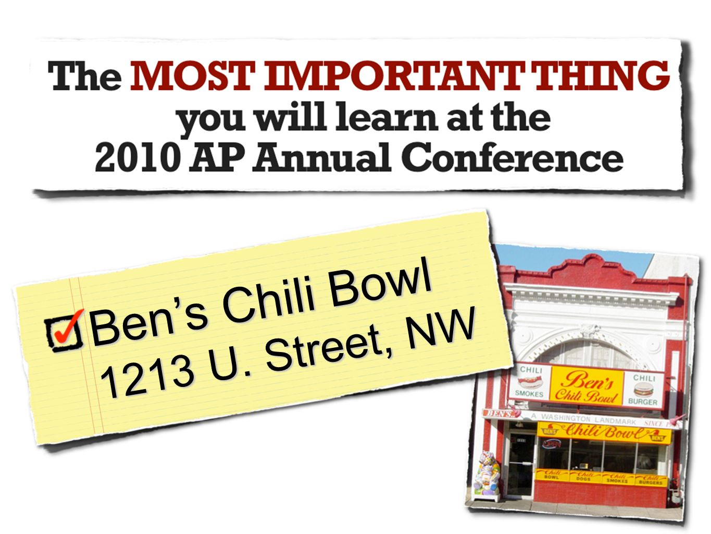 Ben's Chili Bowl 1213 U. Street, NW