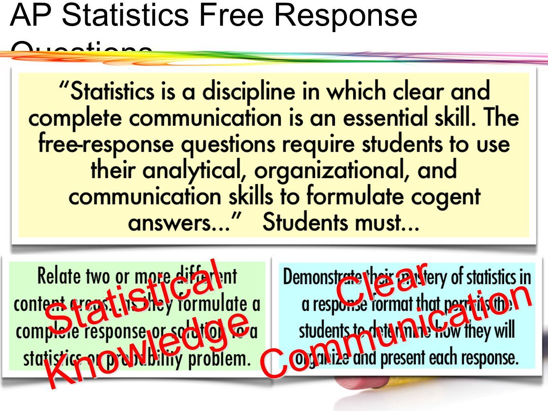 AP Statistics Free Response Questions