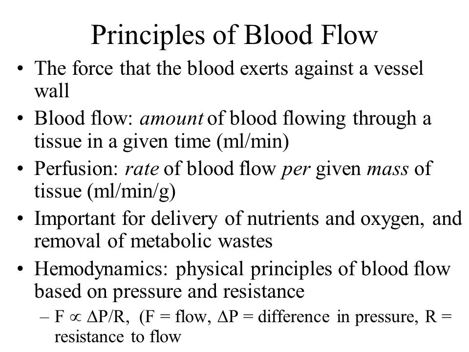 Principles of Blood Flow