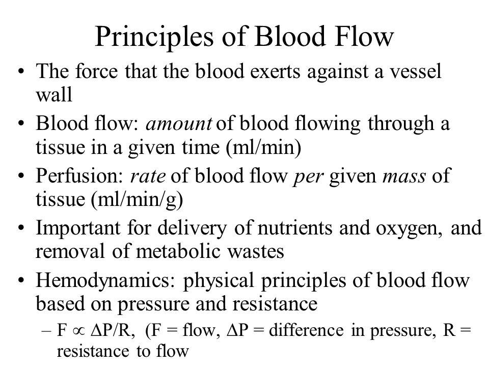 Principles of Blood Flow