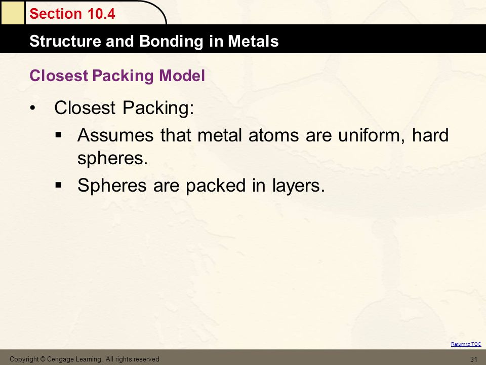 Assumes that metal atoms are uniform, hard spheres.