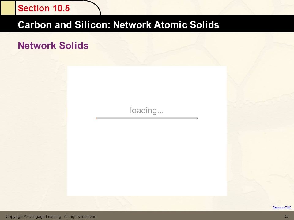 Network Solids Copyright © Cengage Learning. All rights reserved
