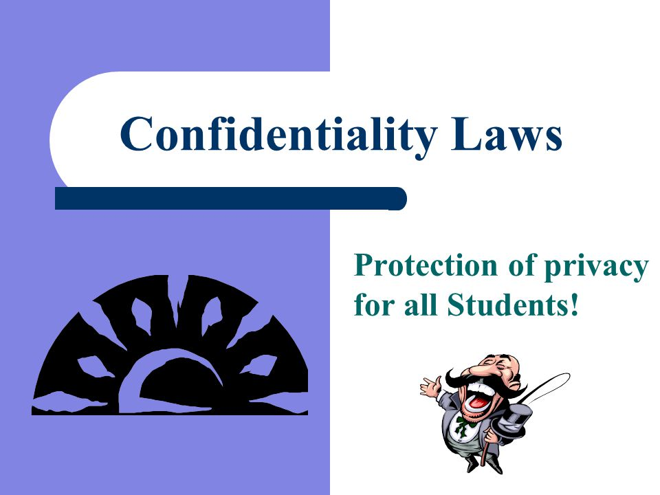 Protection of privacy for all Students!