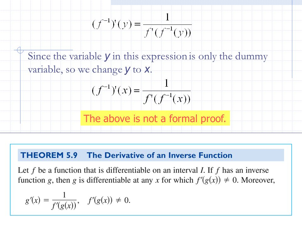 Since the variable y in this expression is only the dummy variable, so we change y to x.