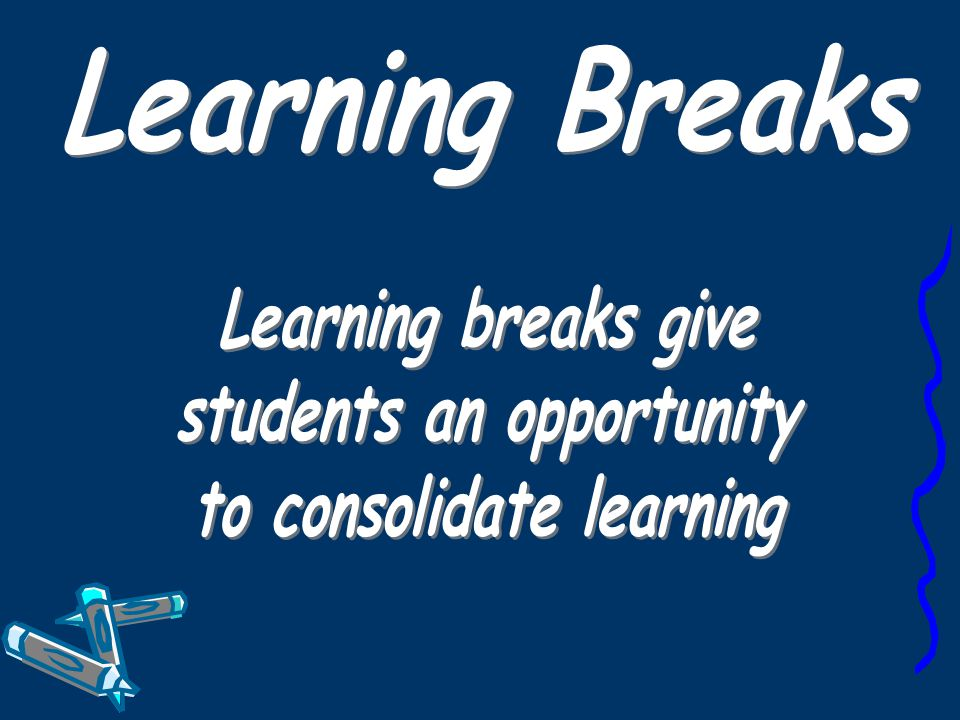 students an opportunity to consolidate learning