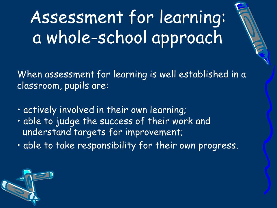 Assessment for learning: a whole-school approach