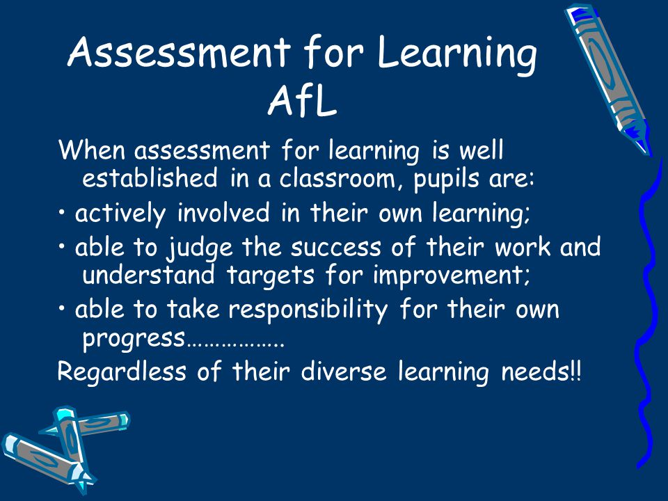 Assessment for Learning AfL