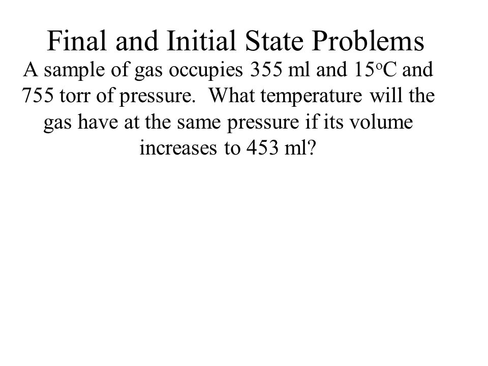 Final and Initial State Problems