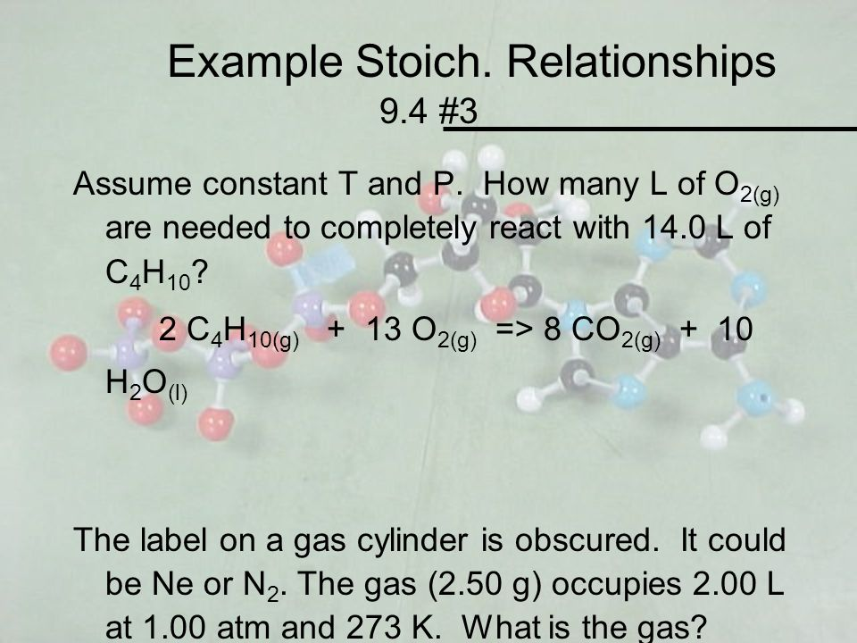Example Stoich. Relationships 9.4 #3