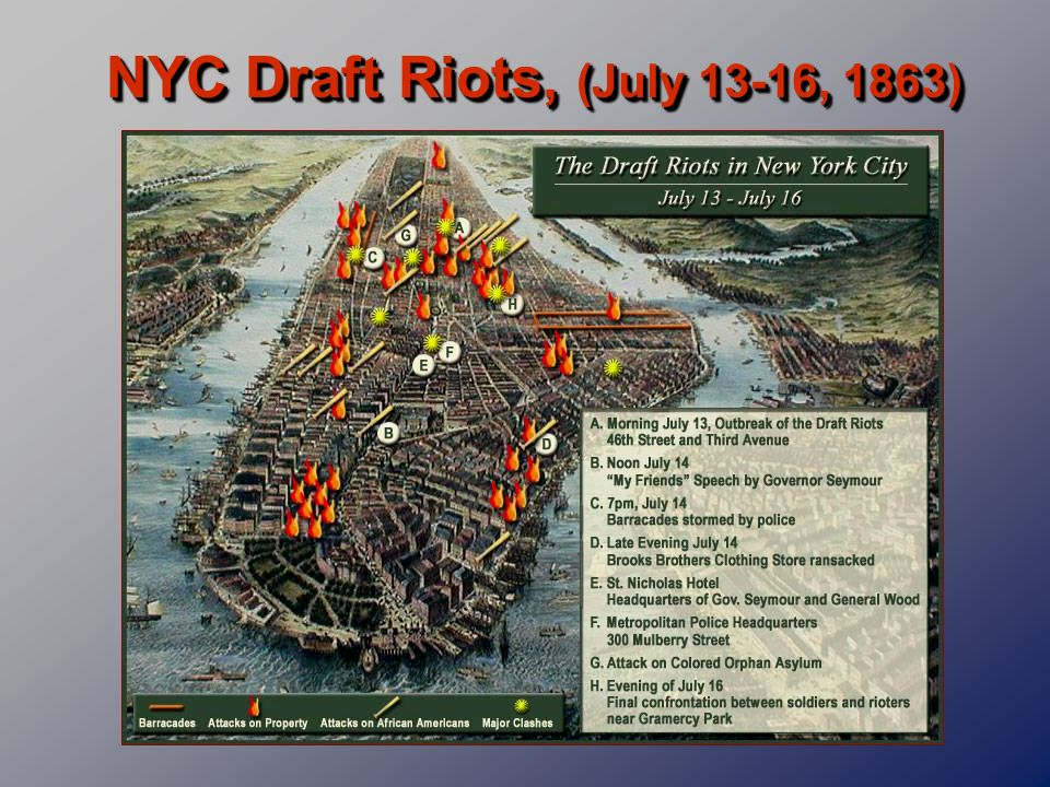 NYC Draft Riots, (July 13-16, 1863)