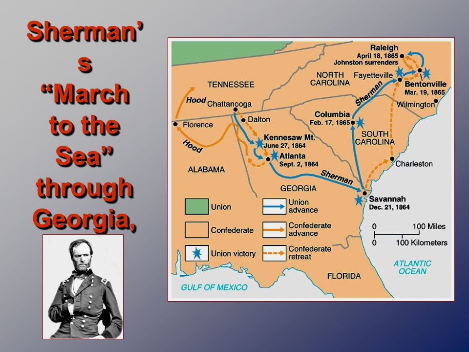 Sherman's March to the Sea through Georgia, 1864