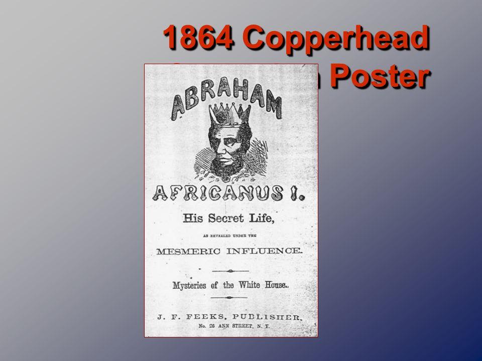 1864 Copperhead Campaign Poster