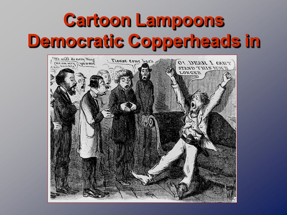 Cartoon Lampoons Democratic Copperheads in 1864