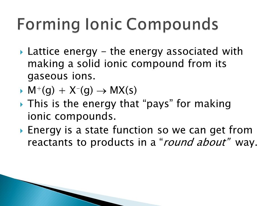 Forming Ionic Compounds