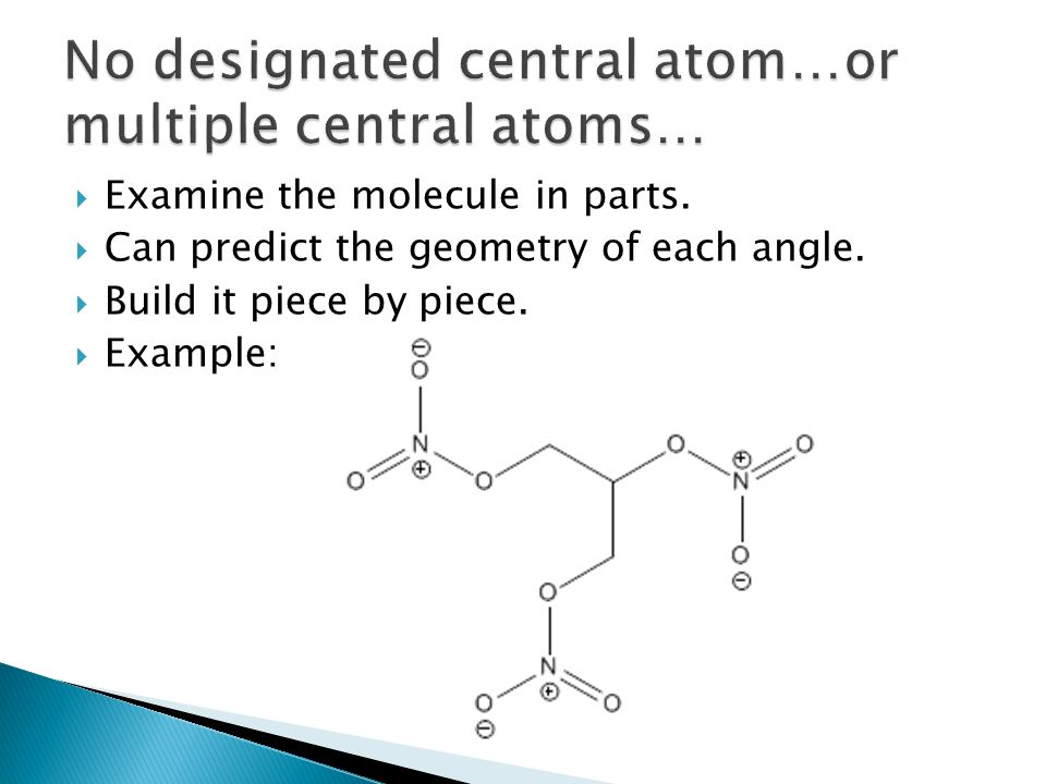 No designated central atom…or multiple central atoms…