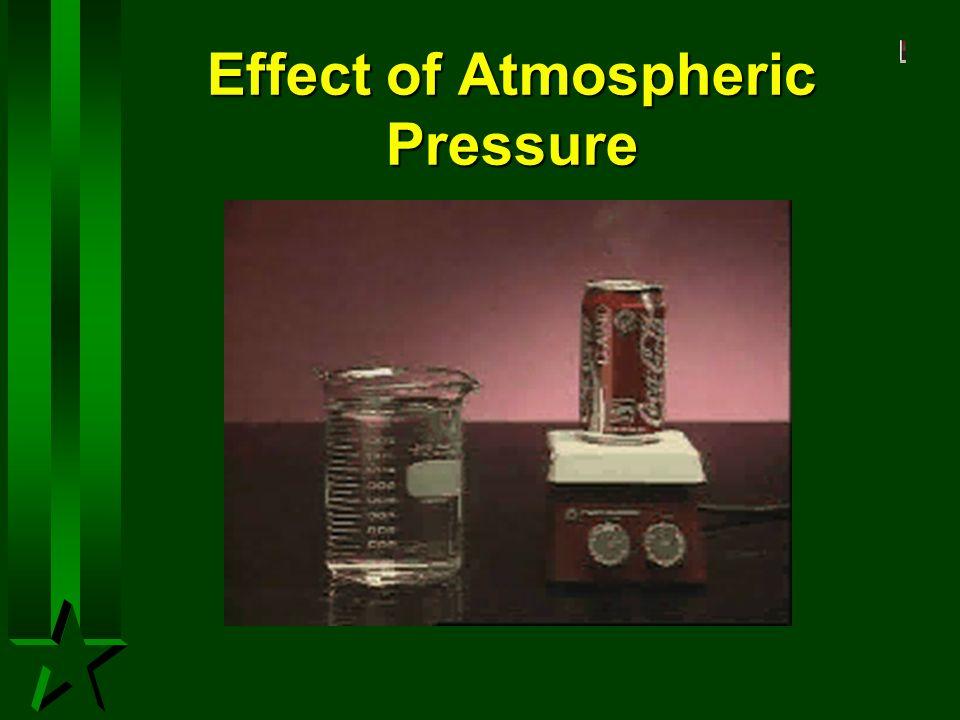 Effect of Atmospheric Pressure
