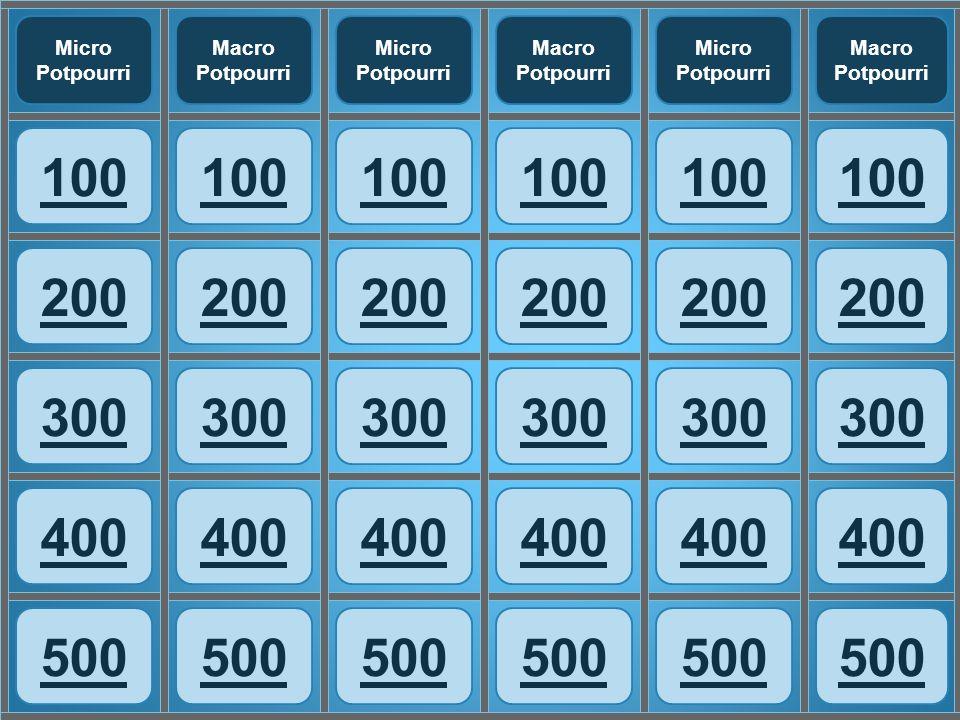 100 200 300 400 500 Micro Potpourri Macro Potpourri