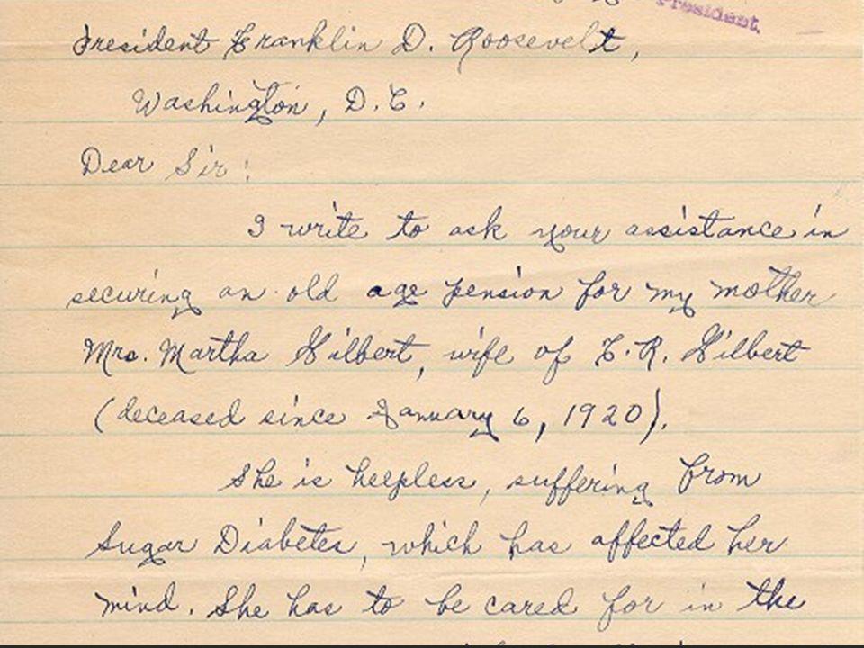 A woman in South Carolina scrawls a note to a man in Washington whom she addresses as Dear Mr.