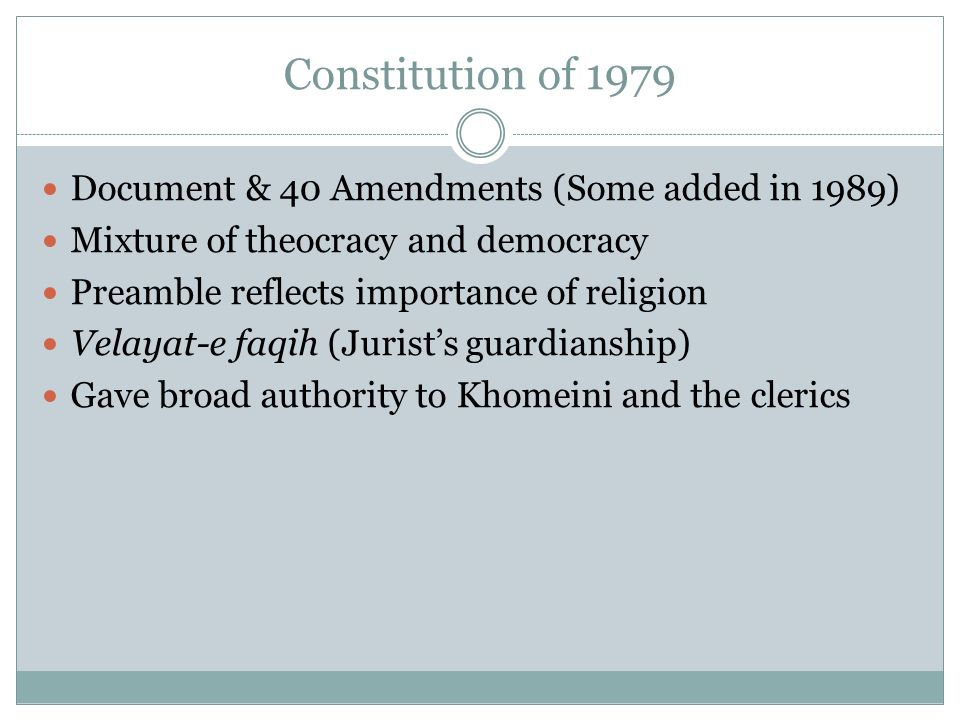 Constitution of 1979 Document & 40 Amendments (Some added in 1989)