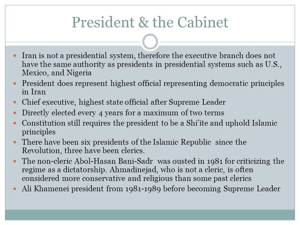 President & the Cabinet