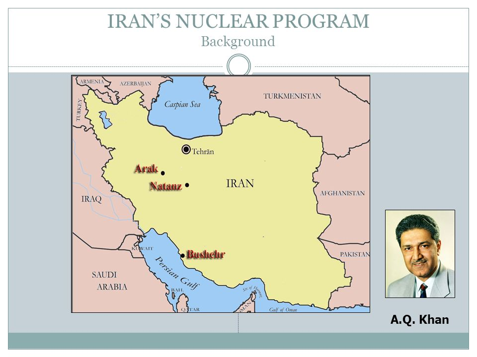 IRAN'S NUCLEAR PROGRAM Background
