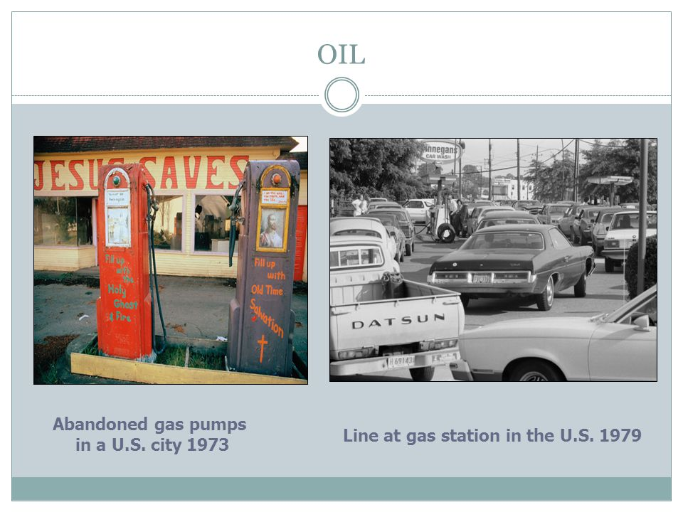 OIL Abandoned gas pumps in a U.S. city 1973