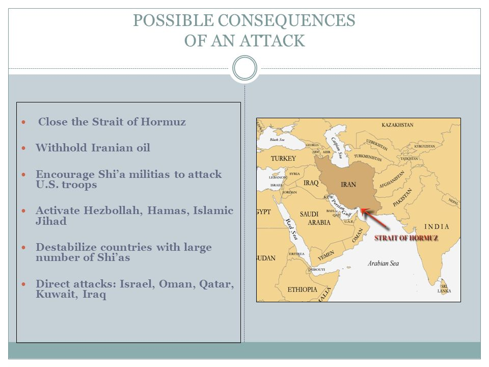 POSSIBLE CONSEQUENCES OF AN ATTACK