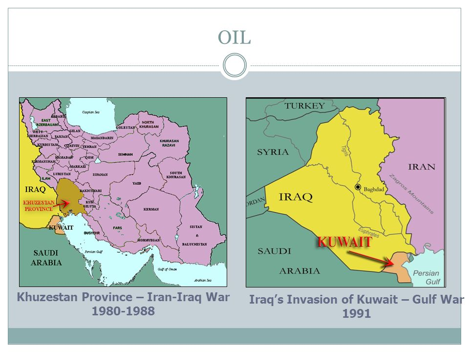 OIL Khuzestan Province – Iran-Iraq War