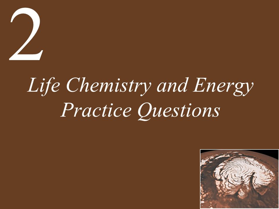 Life Chemistry and Energy Practice Questions