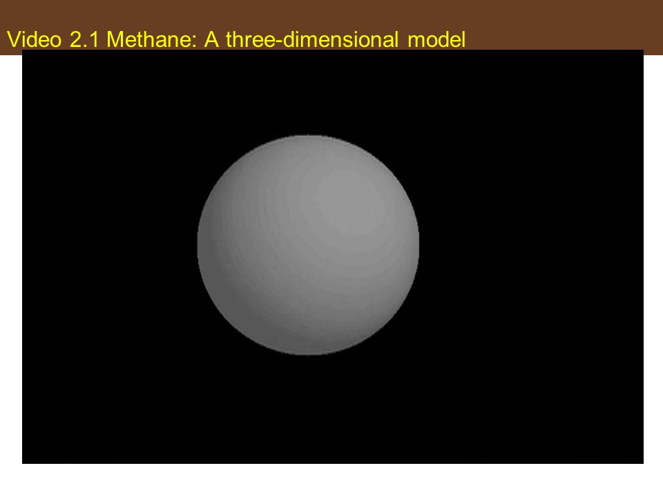Video 2.1 Methane: A three-dimensional model