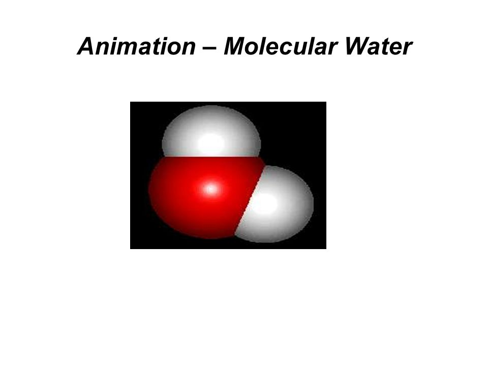 Animation – Molecular Water