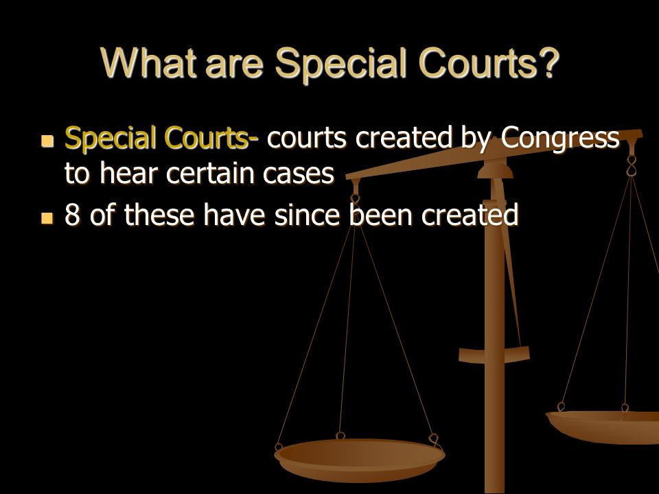 What are Special Courts