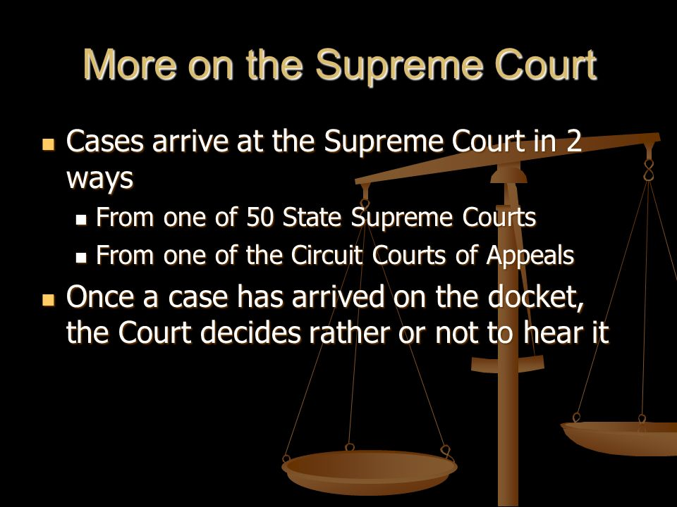 More on the Supreme Court
