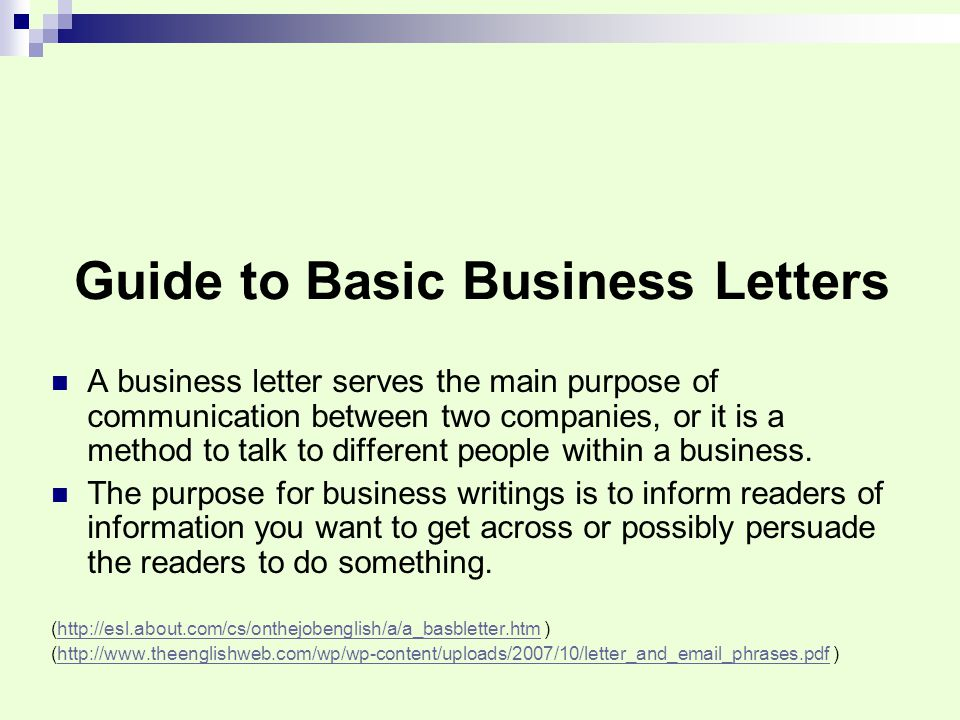 writing a business letter powerpoint Com job search manual – business communication: business writing business writing: letters, e-mails, reports, cases, and presentations why is excellent professional.
