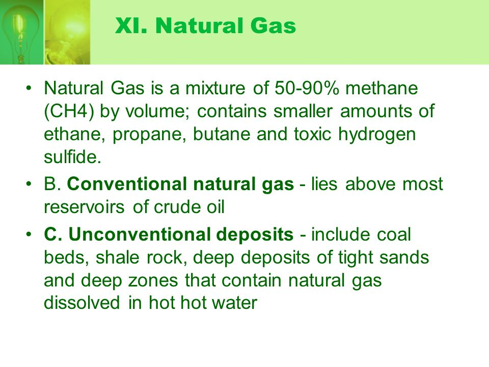 XI. Natural Gas