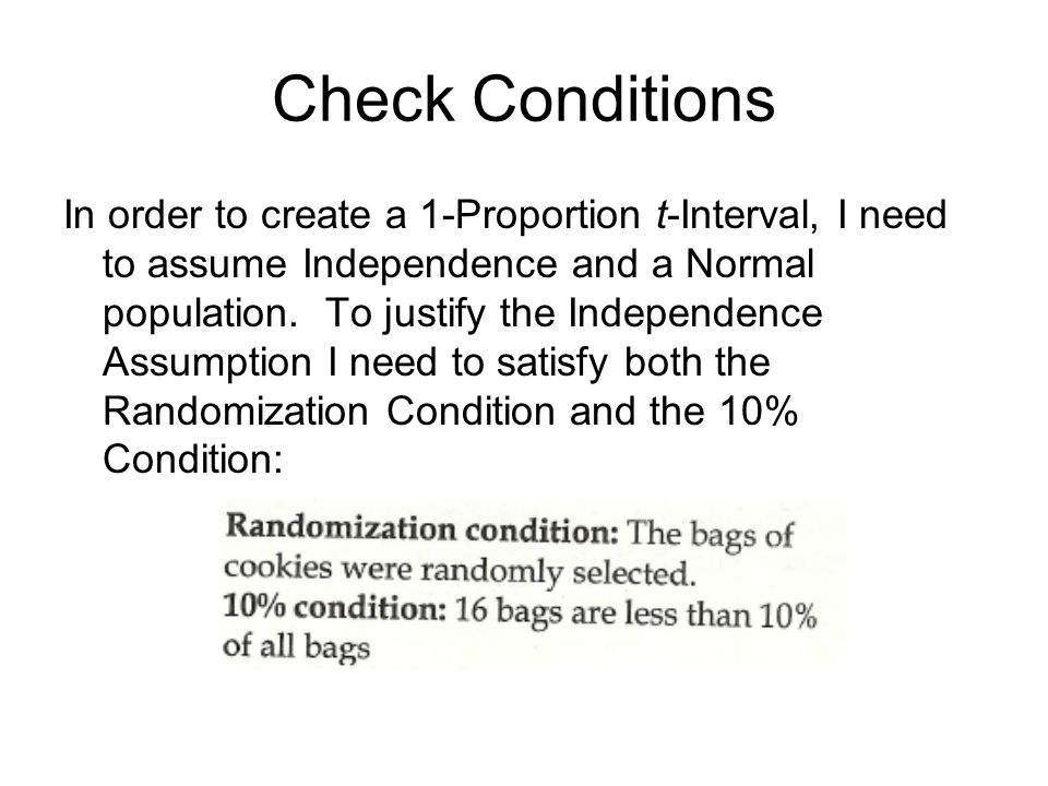 Check Conditions