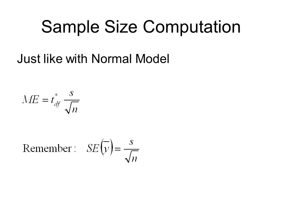 Sample Size Computation