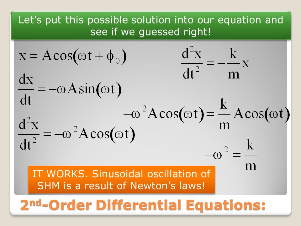2nd-Order Differential Equations: