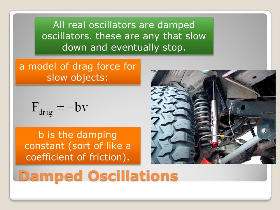 All real oscillators are damped oscillators