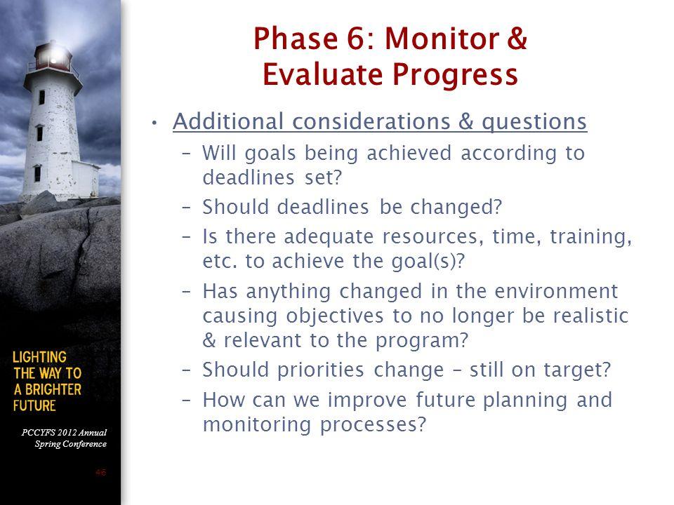 Phase 6: Monitor & Evaluate Progress