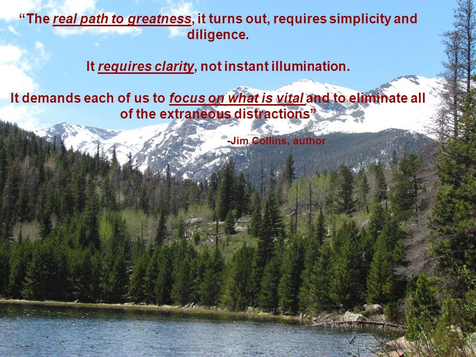 It requires clarity, not instant illumination.