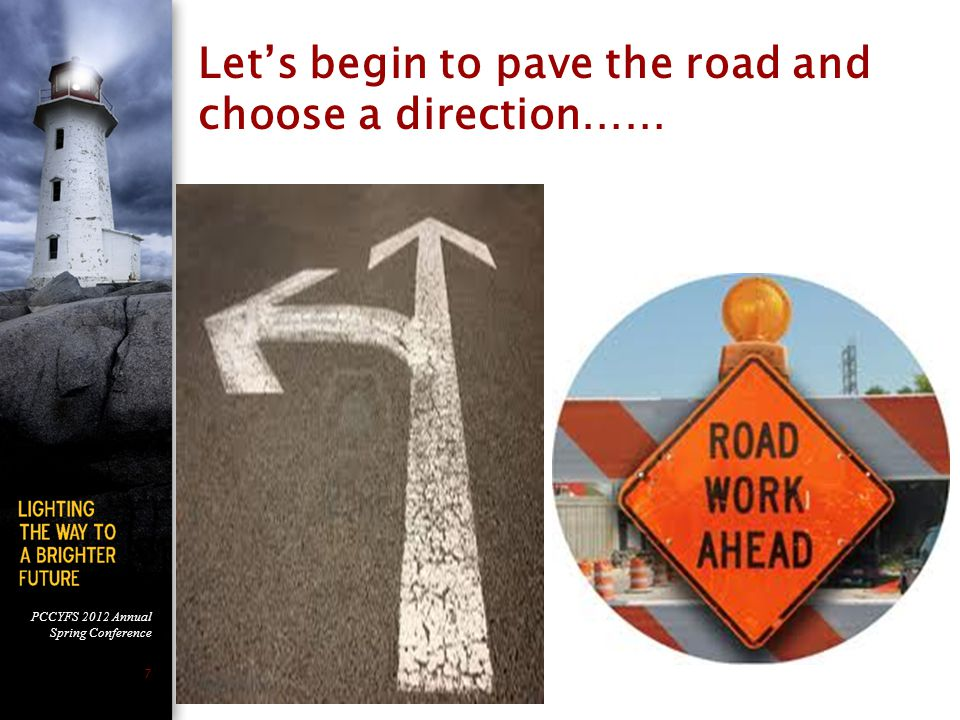 Let's begin to pave the road and choose a direction……
