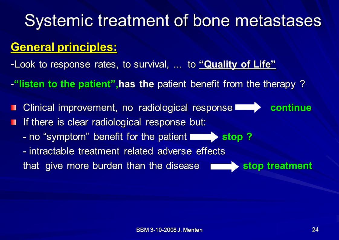 Systemic treatment of bone metastases