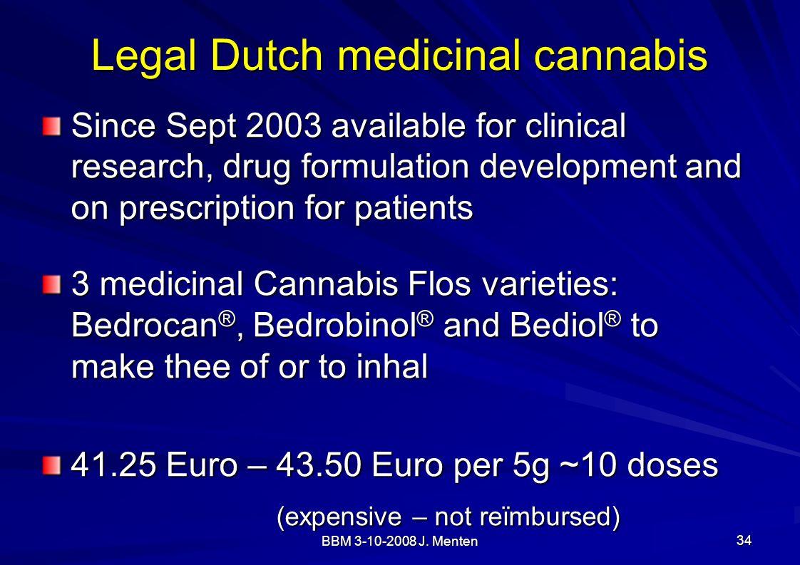 Legal Dutch medicinal cannabis