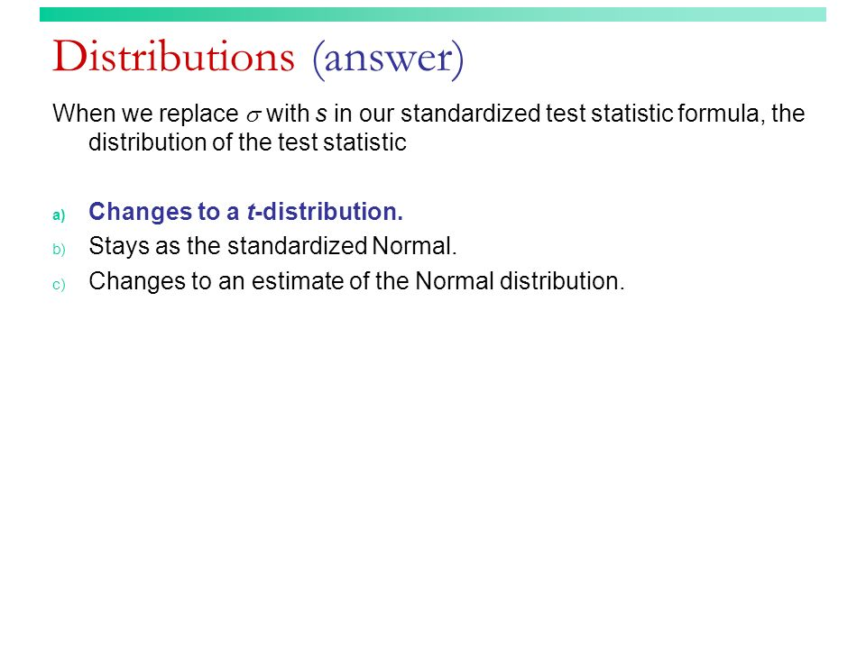 Distributions (answer)