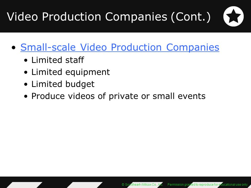 Video Production Companies (Cont.)