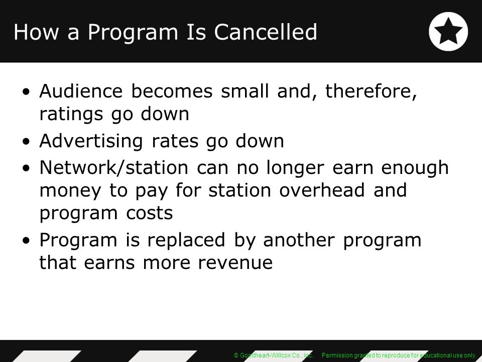 How a Program Is Cancelled