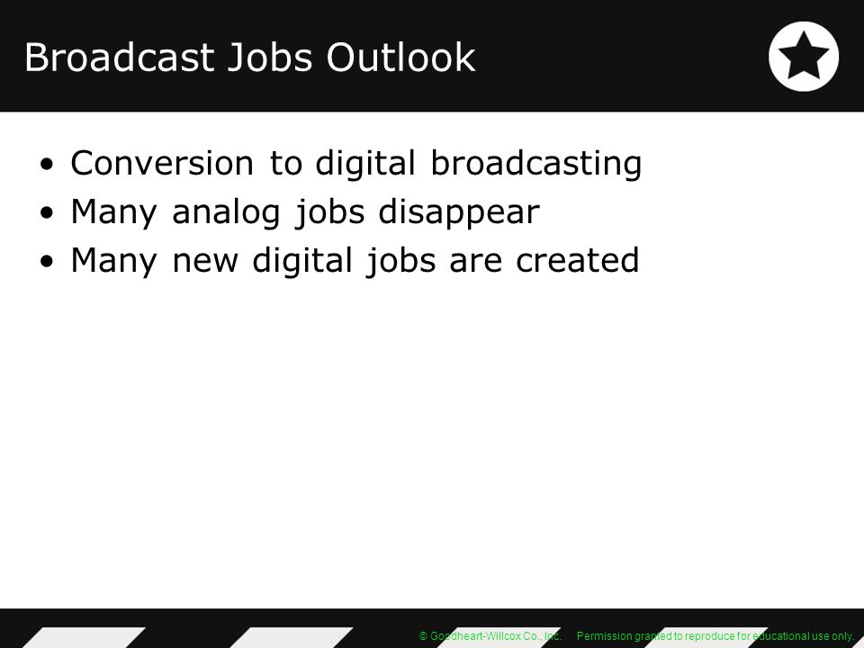 Broadcast Jobs Outlook