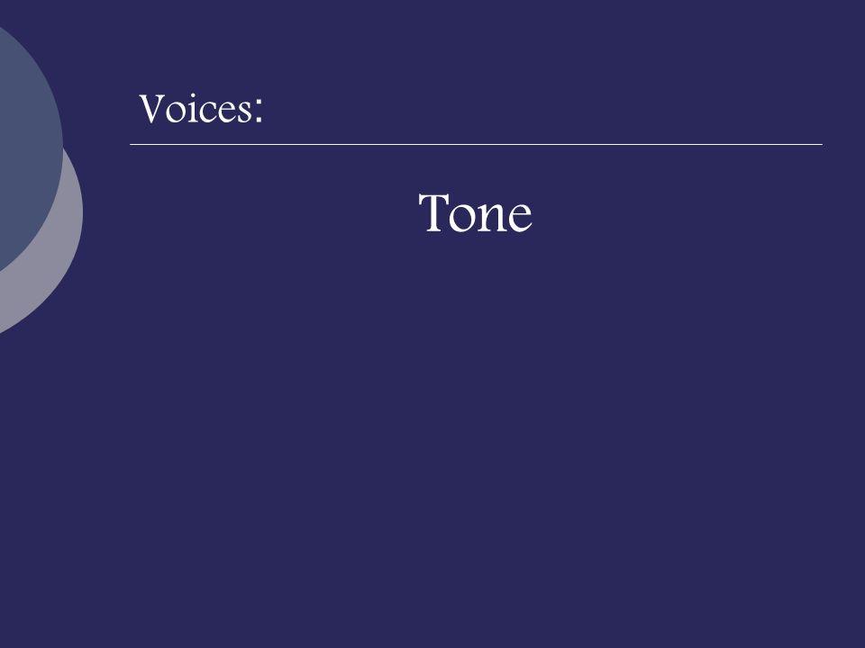 Voices: Tone