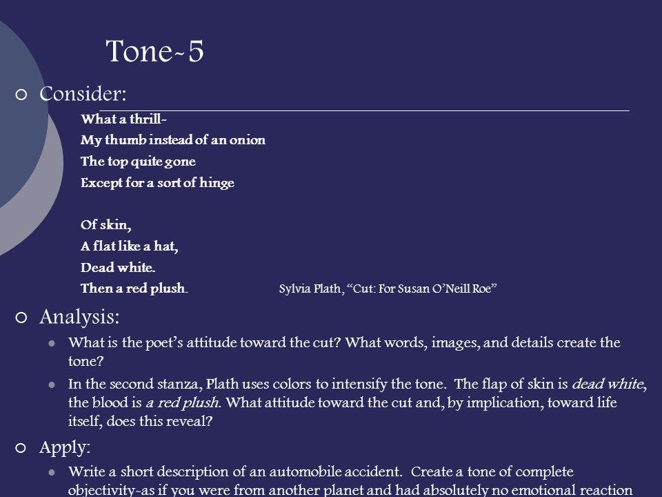 Tone-5 Consider: Analysis: Apply:
